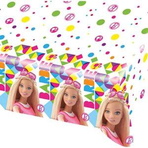 Tovaglia di plastica, dimensioni 120 x 180 - tema barbie